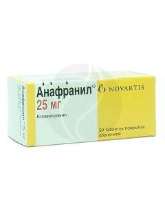 Anafranil tablets p / o 25mg, No. 30   Buy Online