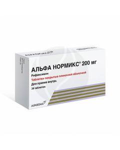 Alfa normix tablets p / o 200mg, No. 36 | Buy Online