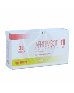 Ariprizol tablets 10mg, No. 30   Buy Online