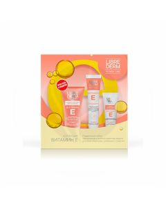 Librederm Vitamin E gift set (Moisturizing mask + Hand cream + Cream-gel for washing), 75ml + 125ml + 150ml | Buy Online