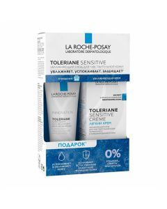 La Roche-Posay Toleriane gift set Sensitive Light cream + Cleansing gel-care for washing, 40ml + 50ml | Buy Online