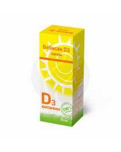 Bebisan D3 drops for oral administration of dietary supplements, 10ml   Buy Online