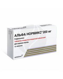 Alfa normix tablets p / o 200mg, No. 12 | Buy Online