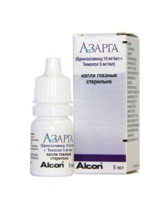 Buy cheap Brinzolamide, Timolol   Azarga eye drops, 5 ml online www.buy-pharm.com