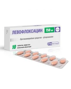 Buy cheap Levofloxacin | Levofloxacin tablets is covered.pl.ob. 750 mg 10 pcs. online www.buy-pharm.com