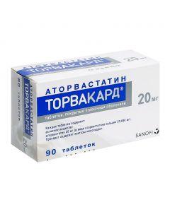 Buy cheap Atorvastatin | Torvacard tablets 20 mg, 90 pcs. online www.buy-pharm.com