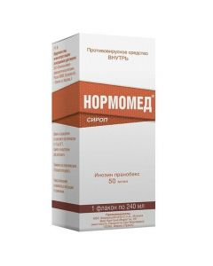 Buy cheap Inosine Pranobex | Normomed syrup 50 mg / ml 240 ml online www.buy-pharm.com