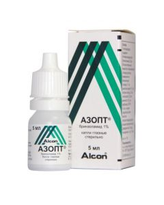 Buy cheap Brynzolamyd   Azopt eye drops 10 mg / ml, 5 ml online www.buy-pharm.com