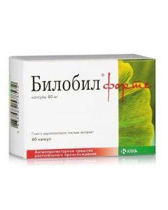 Buy cheap Ginkgo dvulopastnoho lystev ekstrakt | Bilobil forte capsules 80 mg, 60 pcs. online www.buy-pharm.com