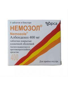 Buy cheap Albendazole | Nemozole tablets 400 mg, 5 pcs. online www.buy-pharm.com
