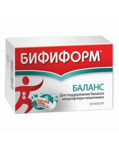 Buy cheap Lactobacilli rhamnosus GG, Lactobacilli acidophilus, Bifidobacteria BB12, Inulin | Bifiform Balance capsules 20 pcs. online www.buy-pharm.com