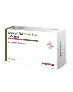 Buy cheap amlodipine, bisoprolol | Concor AM tablets 10 mg + 5 mg 30 pcs. online www.buy-pharm.com