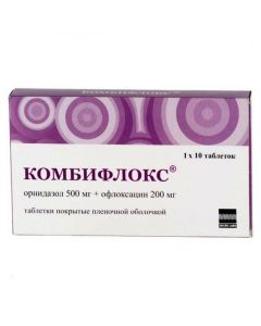 Buy cheap Ornidazole, Ofloxacin   Combiflox tablets 500 + 200 mg, 10 pcs. online www.buy-pharm.com