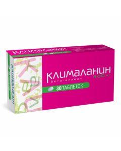 Buy cheap beta-alanine   Klimalanin tablets, 30 pcs. online www.buy-pharm.com