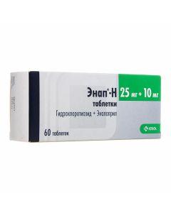 Buy cheap Hydrochlorothiazide, Enalapril | Enap-H tablets 25 mg + 10 mg 60 pcs. online www.buy-pharm.com