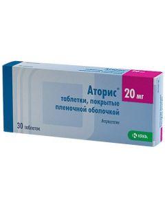 Buy cheap Atorvastatin | Atoris tablets 20 mg, 30 pcs. online www.buy-pharm.com
