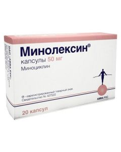 Buy cheap Minocycline   Minolexin capsules 50 mg, 20 pcs. online www.buy-pharm.com