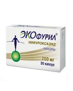 Buy cheap nifuroxazide | Ecofuril Capsules 200 mg 30 pcs online www.buy-pharm.com