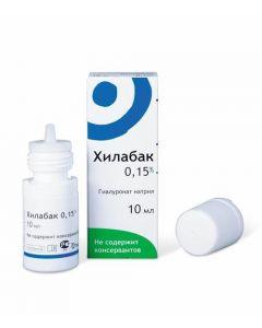 Buy cheap Sodium hyaluronat | Hilabac solution moisturizing for eyes and contact lenses 0.15% dropper bottle 10 ml 10 ml online www.buy-pharm.com