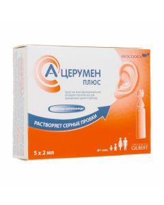 Buy cheap TEM-kokoylhydrolyzyrovann y collagen, Cocobetaine, PEG 120-methylglucososodiolate | A-Tserumen Plus ear drops 2ml dropper bottles 5 pcs. online www.buy-pharm.com