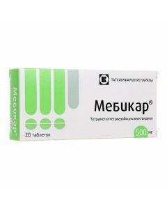 Buy cheap Tetrametyltetraazabytsyklooktandyon | Mebikar tablets 500 mg 20 pcs. online www.buy-pharm.com