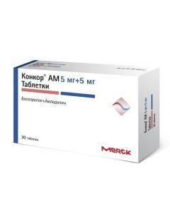 Buy cheap amlodipine, bisoprolol | Concor AM tablets 5 mg + 5 mg 30 pcs. online www.buy-pharm.com