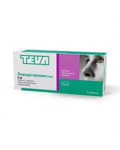 Buy cheap Levocetirizine | Levocetirizine-Teva tablets coated. 5 mg 14 pcs. online www.buy-pharm.com