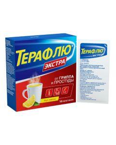 Buy cheap Paracetamol, Phenylephrine, Phenyramine   TeraFlu Extra lemon sachets 10 pcs online www.buy-pharm.com