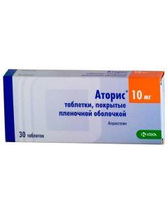 Buy cheap Atorvastatin | Atoris tablets 10 mg, 30 pcs. online www.buy-pharm.com