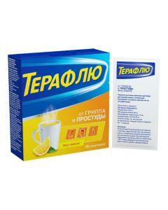 Buy cheap Paracetamol, Phenylephrine, Phenyramine, Ascorbic acid   TeraFlu lemon sachets 10 pcs. online www.buy-pharm.com