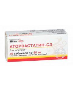 Buy cheap Atorvastatin | Atorvastatin-SZ tablets are coated. 40 mg 30 pcs. pack online www.buy-pharm.com