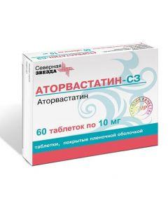 Buy cheap Atorvastatin | Atorvastatin-SZ tablets are covered.pl.ob. 10 mg 60 pcs. pack online www.buy-pharm.com