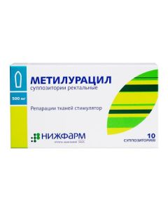 Buy cheap Dyoksometyltetrahydropyrymydyn | Methyluracil rectal suppositories 500 mg 10 pcs. online www.buy-pharm.com