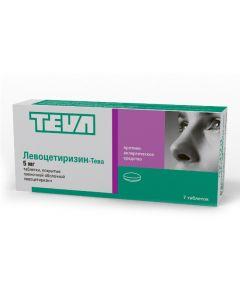Buy cheap Levocetirizine | Levocetirizine-Teva tablets coated. 5 mg 7 pcs. online www.buy-pharm.com