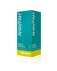 Buy cheap lidocaine, neomycin, polymyxin B | Anauran drops for ear drops 25 ml online www.buy-pharm.com