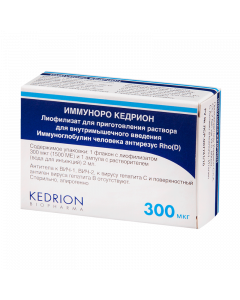 Buy immunoglobulin man Antirhesus Rho (D) | Immunoro Kedrion lyof.d / prig. solution for v / m introduction. 300 mcg (1500ME) vial with r-le (water d / injection) 1 pc. online www.buy-pharm.com