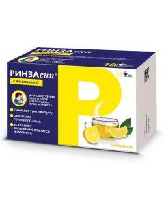 Buy cheap Paracetamol, ascorbic acid , Caffeine, Pheniramine, Phenylephrine | Rinzasip with vitamin C powder for solution for oral administration Lemon 5 g sachet 10 pcs. online www.buy-pharm.com
