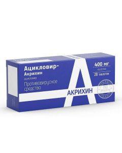 Buy cheap acyclovir   Acyclovir-Akrikhin tablets 400 mg, 20 pcs. online www.buy-pharm.com