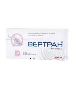 Buy cheap betahistine   Vertran tablets 24 mg 30 pcs. online www.buy-pharm.com