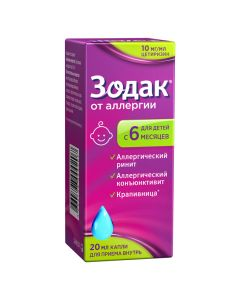 Buy cheap Cetirizine | Zodak drops for oral administration 10 mg / ml 20 ml online www.buy-pharm.com