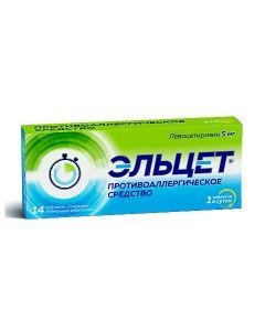 Buy cheap Levocetirizine | Elcet tablets coated.pl.ob. 5 mg 14 pcs online www.buy-pharm.com