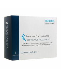 Buy cheap Menotropyn | Menopur Multidose lyophilisate d / pr. r-ra d / hypodermic. 1200 IU FSH + 1200 IU LH syringe 1 pc. online www.buy-pharm.com