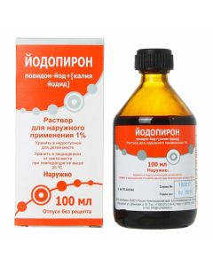 Buy cheap Povidone-Iodine, Potassium iodide   Iodopyron solution 1% bottle of 100 ml online www.buy-pharm.com