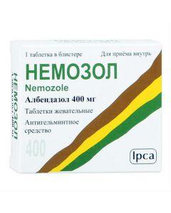 Buy cheap Albendazole | Nemozole chewable tablets 400 mg, 1 pc. online www.buy-pharm.com