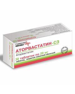 Buy cheap Atorvastatin | Atorvastatin-SZ tablets are coated. 20 mg 30 pcs. pack online www.buy-pharm.com