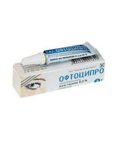 Buy cheap Ciprofloxacin   Oftocipro eye ointment 0.3%, 3 g online www.buy-pharm.com