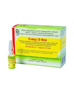 Buy cheap Vaccine for Prevention kleschevoho entsefalyta | Tick-E-Vac susp. for v / m input. 0.25 ml / ampoule dose 0.25 ml 10 online www.buy-pharm.com