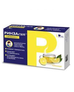 Buy cheap Paracetamol, ascorbic acid, caffeine, Fenyramyn, phenylephrine | Rinzasip with vitamin C powder for solution for oral administration Lemon 5 g sachets 5 pcs. online www.buy-pharm.com