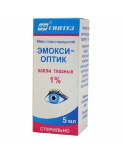 Buy cheap Targets Letylpyridinol   Emoxy-optic eye drops 1%, 5 ml online www.buy-pharm.com