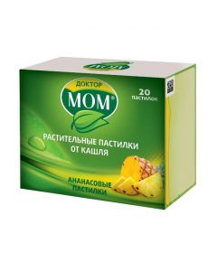 Buy cheap Ymbyr, Glycyrrhiza glabra, emblyky Lek., Ratsementol | Dr. Mom vegetable cough lozenges Pineapple cough 20 pcs. online www.buy-pharm.com